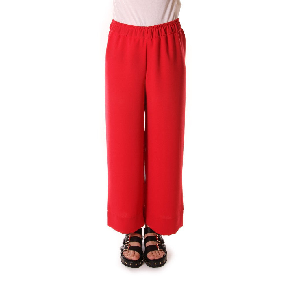 Paglia womens bright red viscose palazzo pants with a soft fit