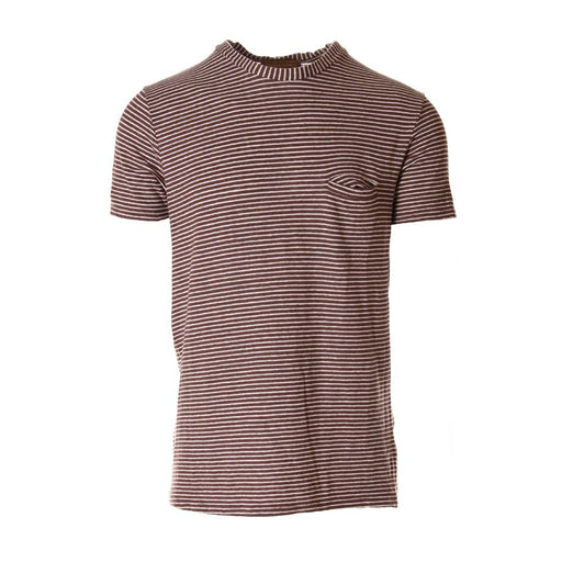 DANIELE FIESOLI mens white brown stripes T-shirts