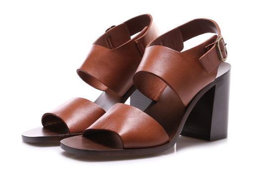 MANOVIA 52 womens brown leather Pumps sandals