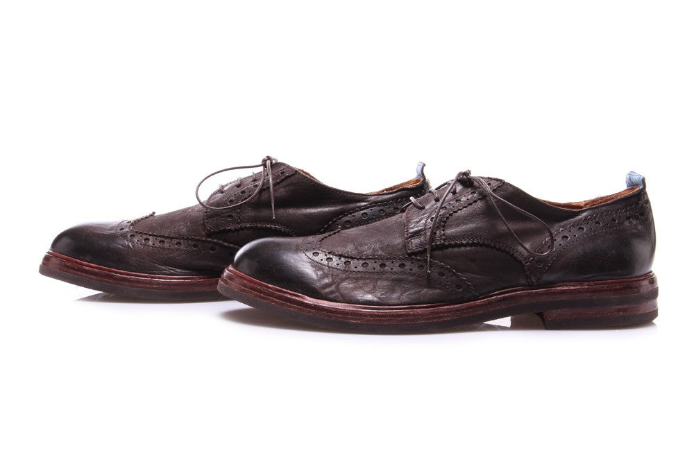 MOMA mens brown leather Brouges shoes