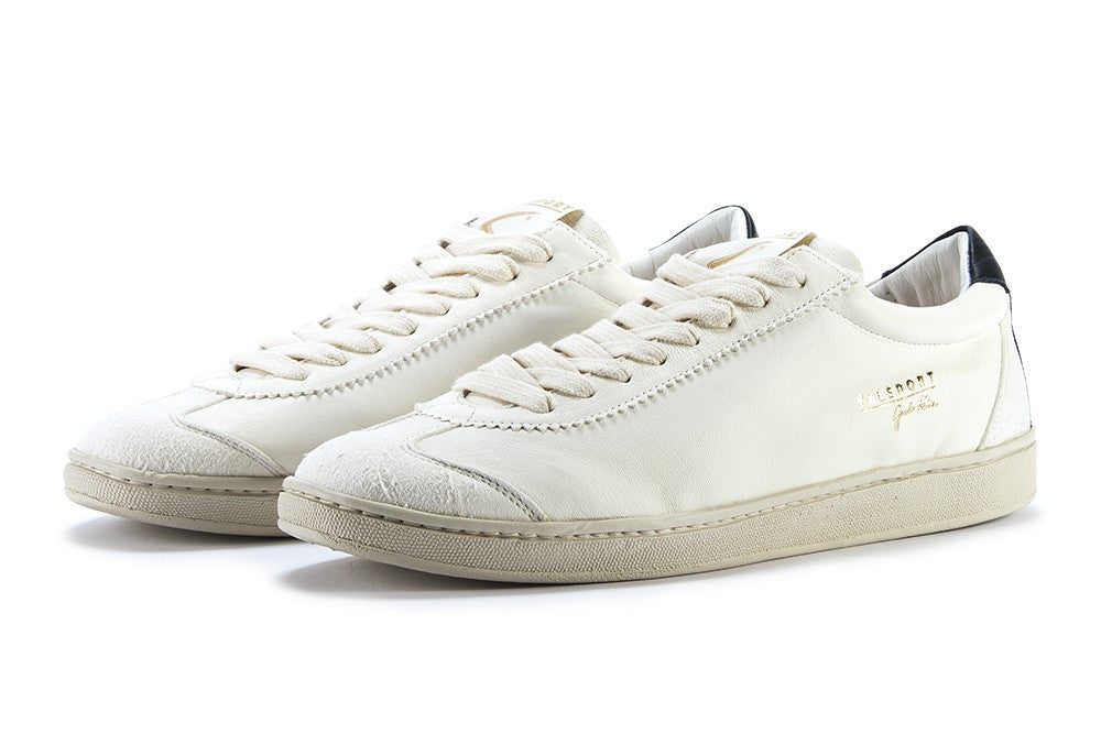 VALSPORT mens Guido valle sneakers white dark blue leather