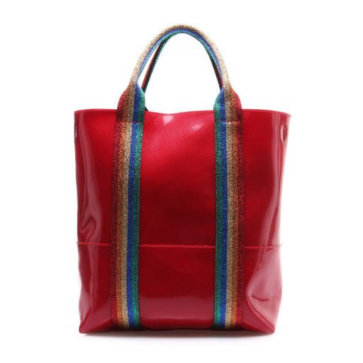 GUM CHIARINI womens glossy red rainbow Handbag
