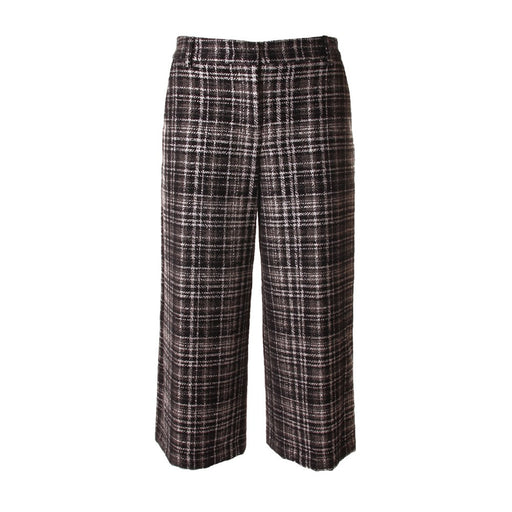 KUBERA 108 womens black tartan cotton Trousers