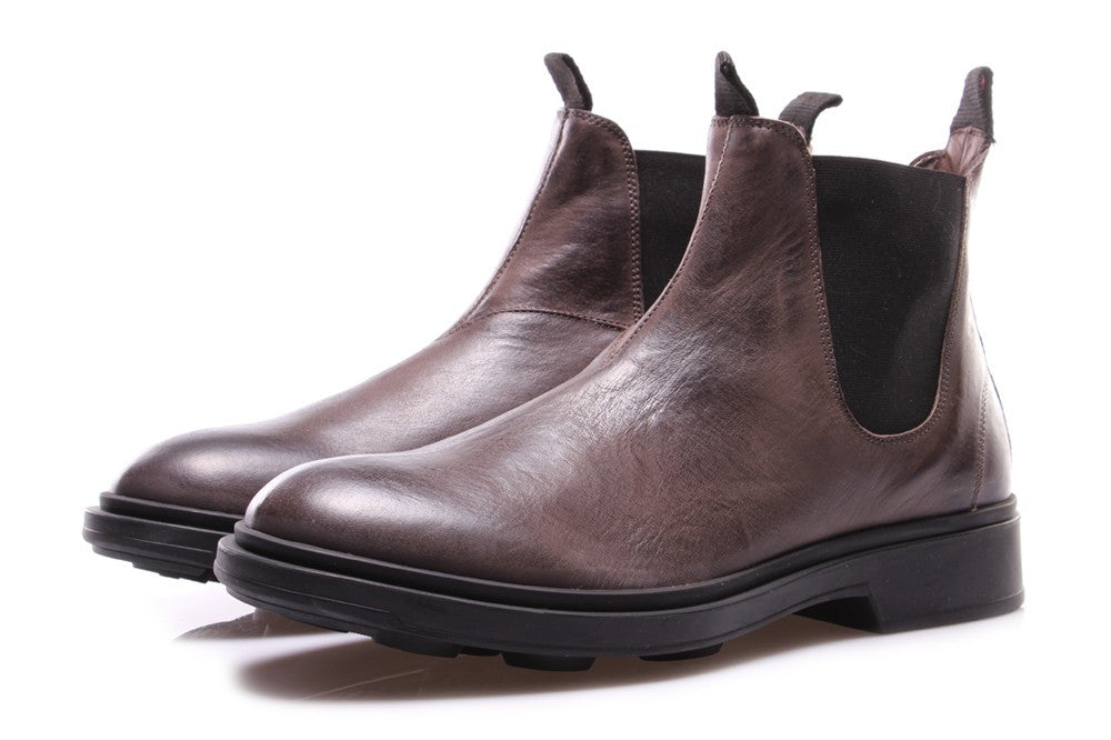MANOVIA 52 mens taupe leather Chelsea boots
