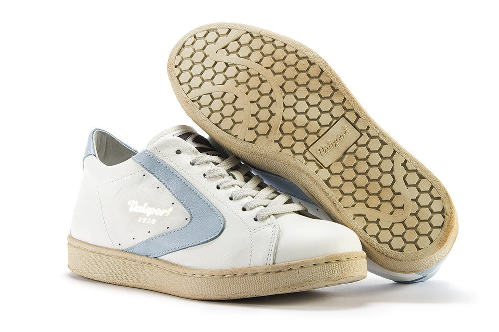 VALSPORT 1920 women's Tournament sneakers white blue leather