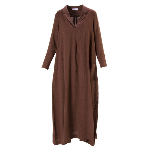 BIONEUMA womens brown linen blend Long dress