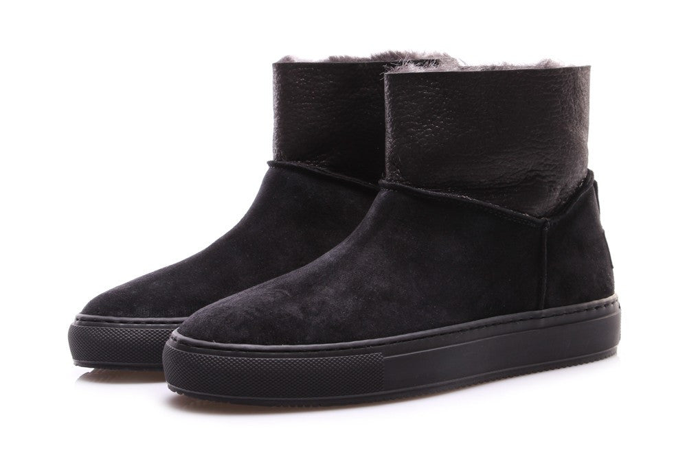 MANOVIA 52 womens black suede Ankle boots