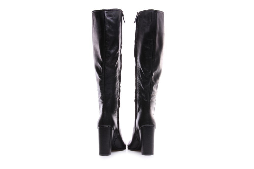 CHANTAL womens black leather Knee-high boots