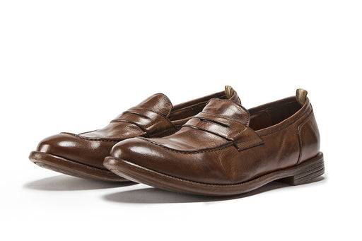 OFFICINE CREATIVE mens tobacco brown Mocassin