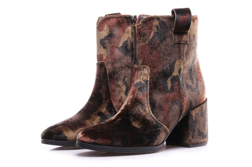 TODAI Womens multicolor leather textile Boots