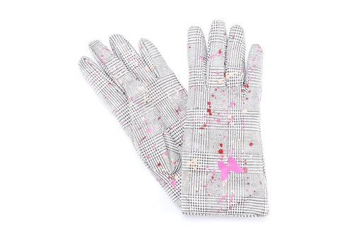 5 FINGERS women white pink Gloves leather wool nappa