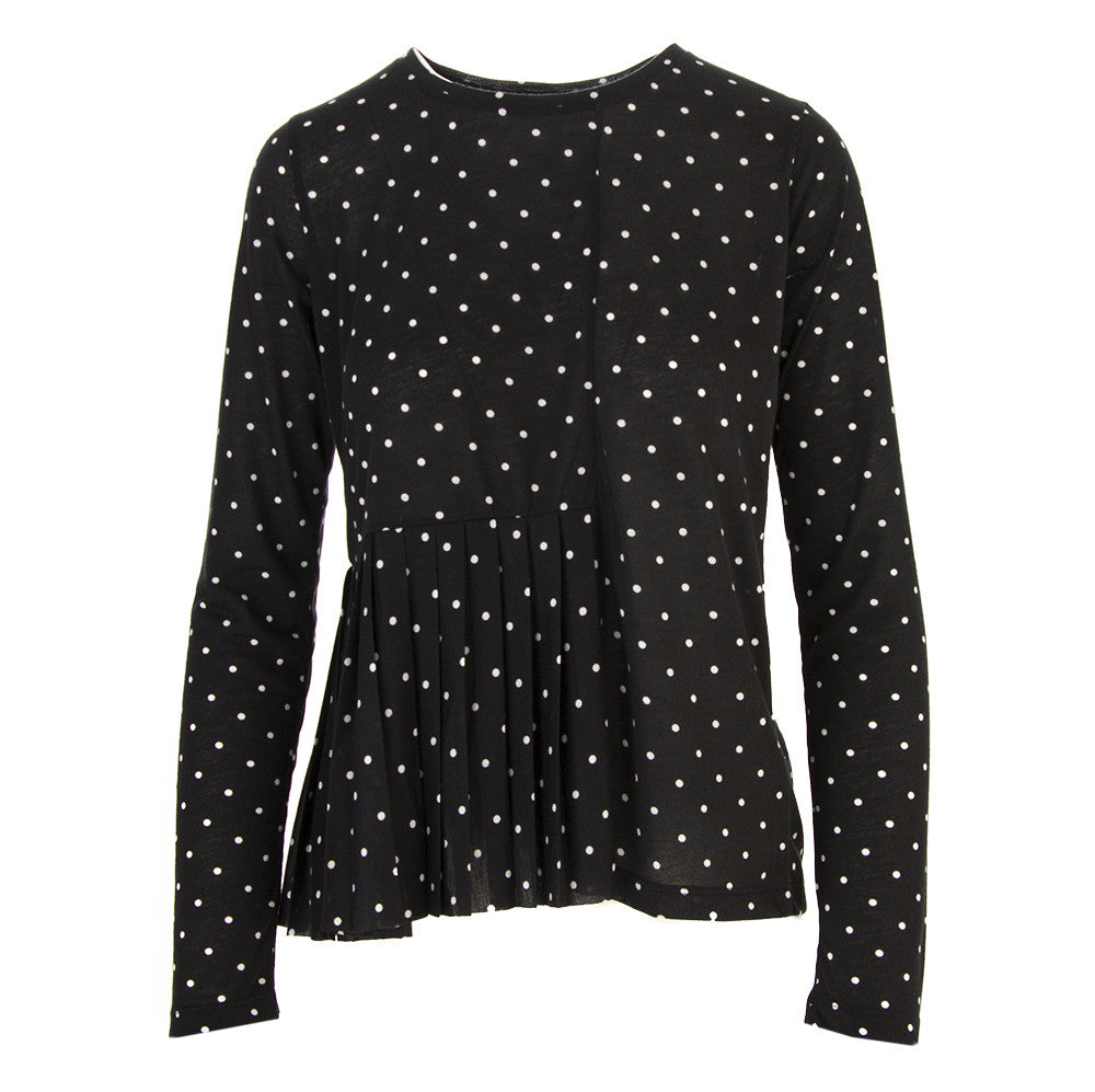 Semicouture womens black and white polka dots t-shirt