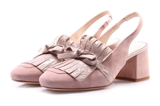 TODAI Womens pink suede leather Pumps