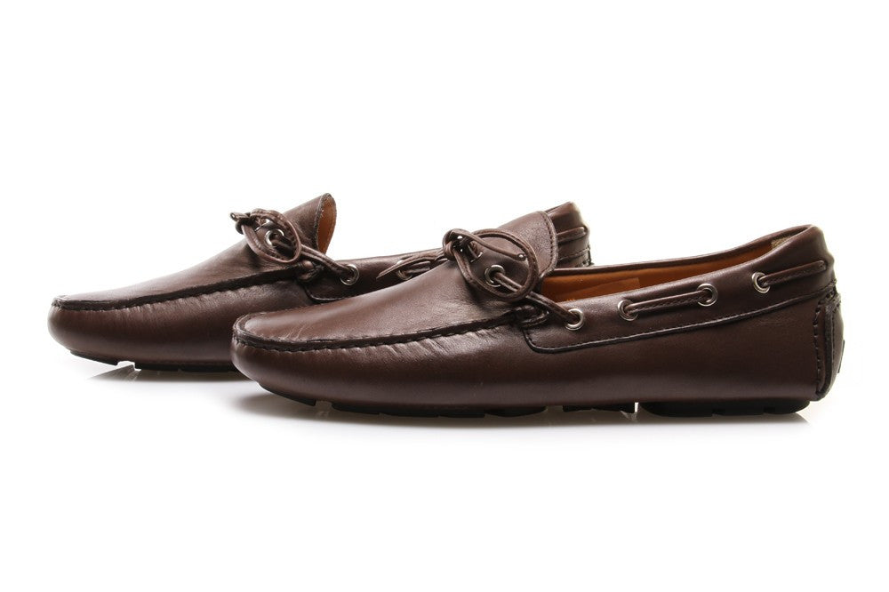 MANOVIA 52 mens brown leather Loafers