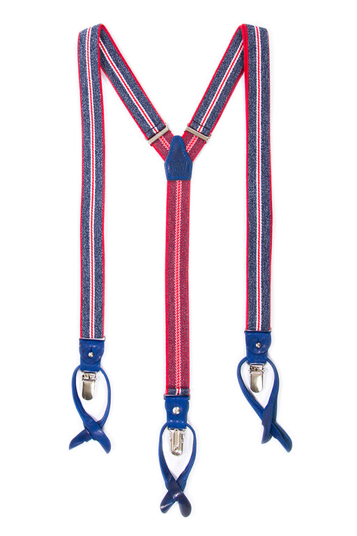 Dandy street men's suspenders blue/red