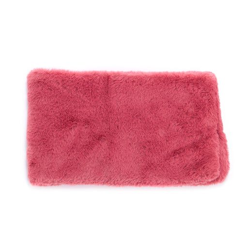 OOF womens pink faux fur Collar scarf