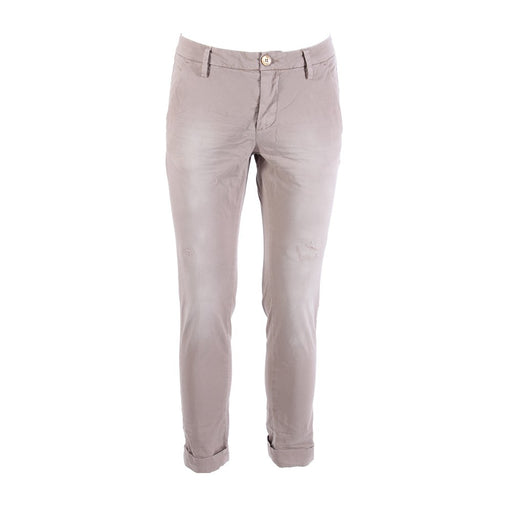 AGLINI mens beige stretch cotton Chino pants