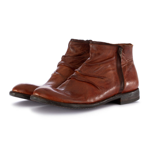 manovia 52 mens ankle boots brown leather