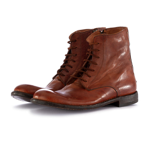 manovia 52 mens boots lux brown leather