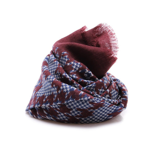DANDY STREET mens bordeaux blue white Scarf