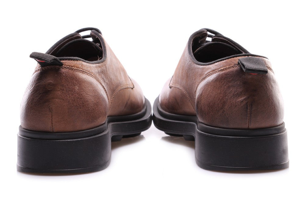 MANOVIA 52 mens hazelnut leather Derby shoes