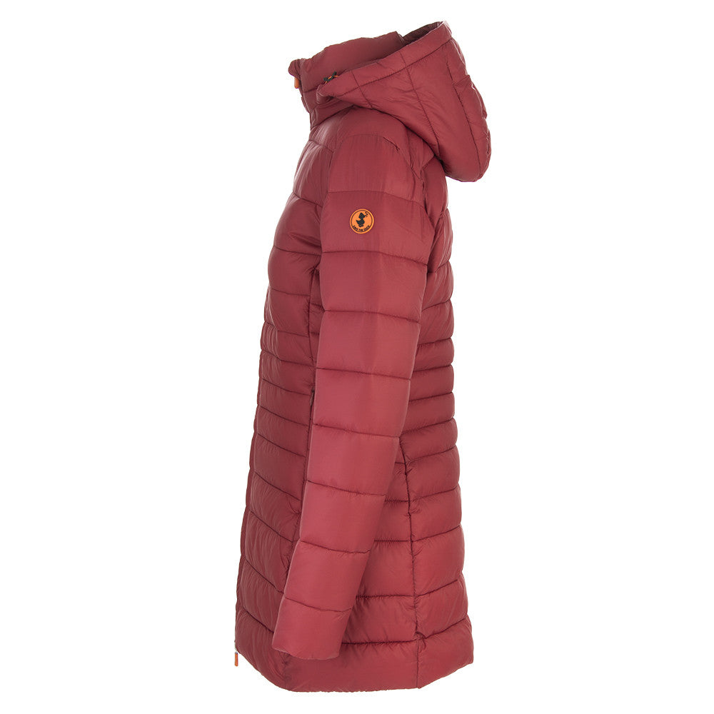 SAVE THE DUCK LONG womens dark red Icons long jacket
