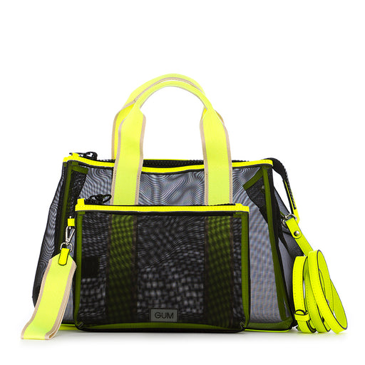 Gum Chiarini womens handbag black yellow
