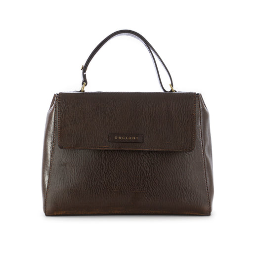 Orciani womens bag dark brown leather