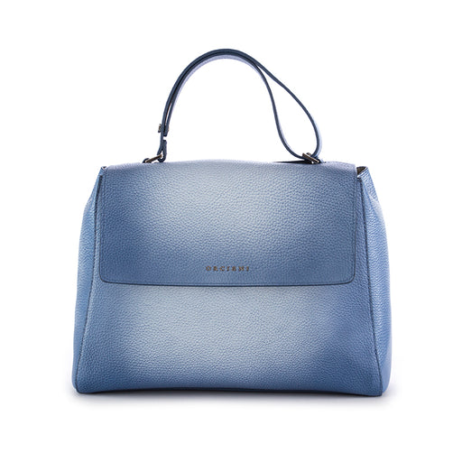 Orciani women's shoulder bag vanish blue leather