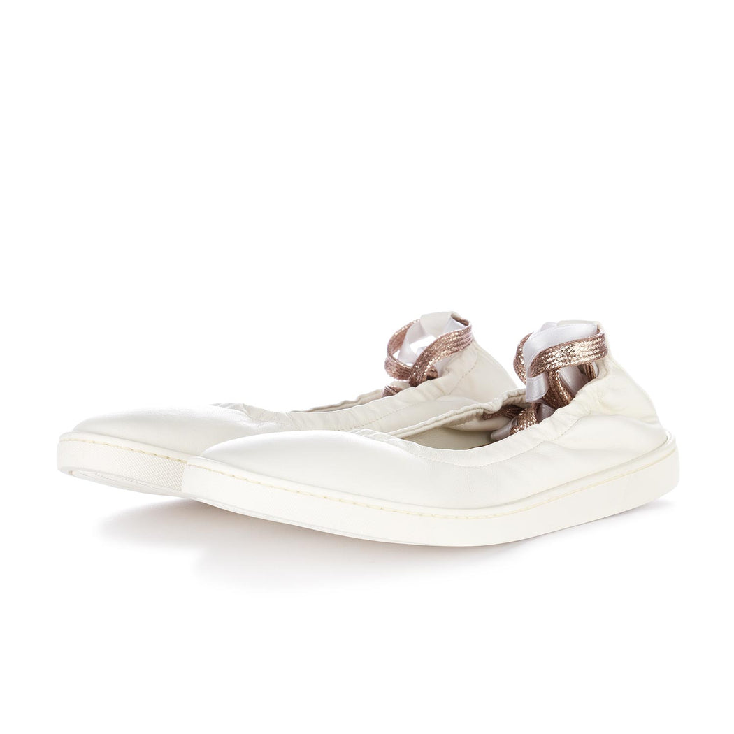 oa non fashion womens ballerinas white