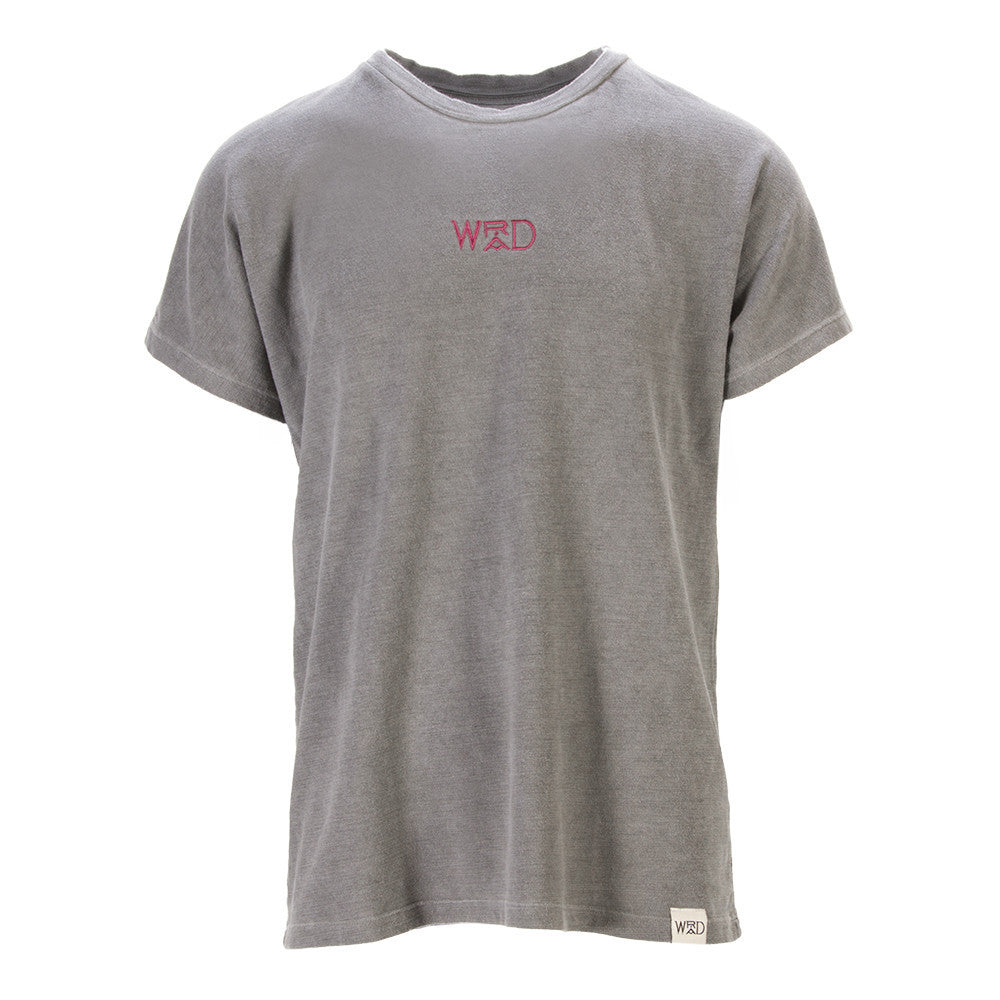 WRAD unisex grey T-shirt graphi-tee pink embroidered logo