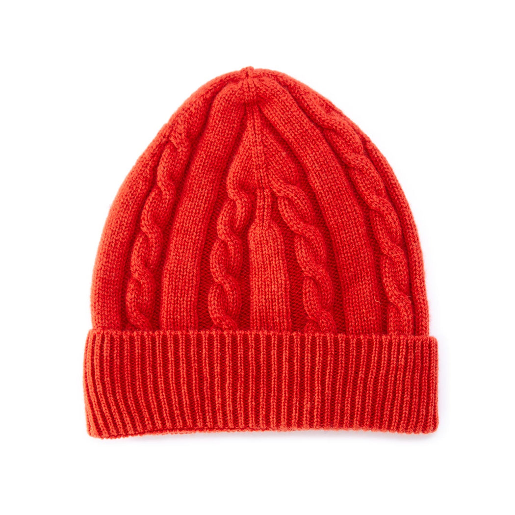 riviera cashmere beanie orange