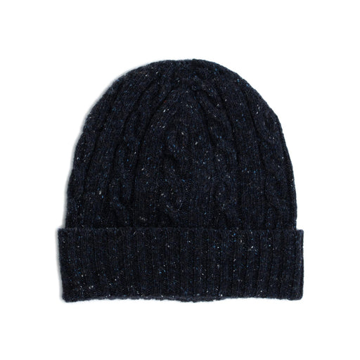 wool and co beanie hat blue
