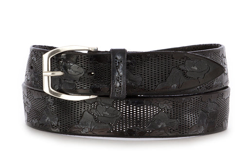 Orciani mens belt handmade black