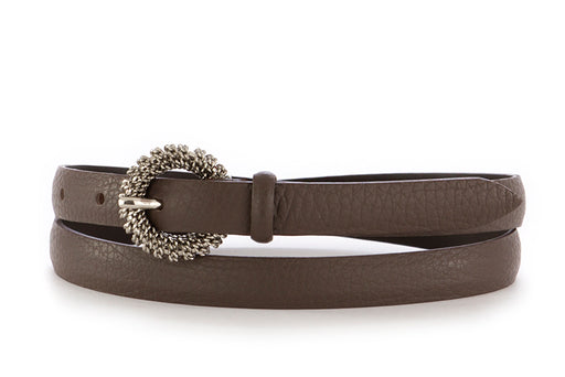 Orciani womens belt dark brown leather