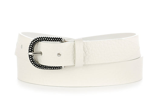 Orciani womens belt white leather