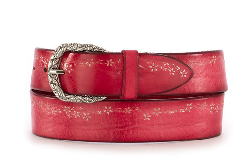 Orciani womens belt red leather