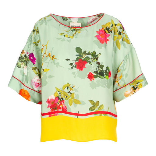blouse semicouture muliticolor flowers