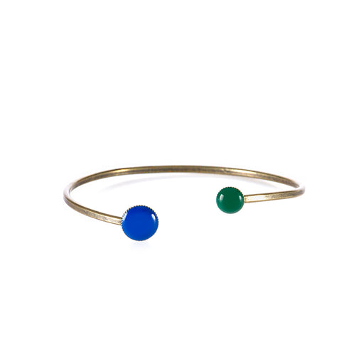 UNIQUE womens green blue enamelled Bracelet