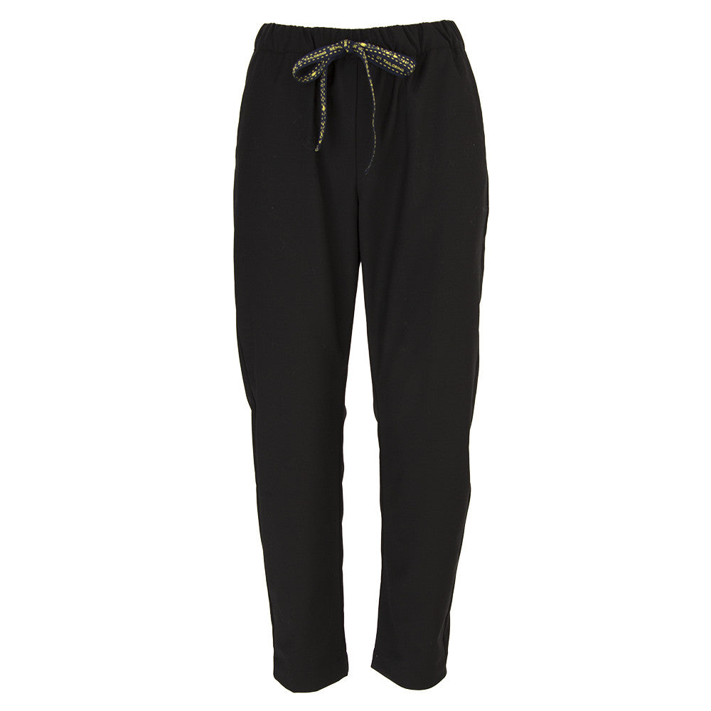 SEMICOUTURE womens black wool blend Trousers