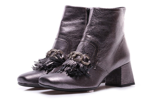 D+ womens metallic leather Ankle boots
