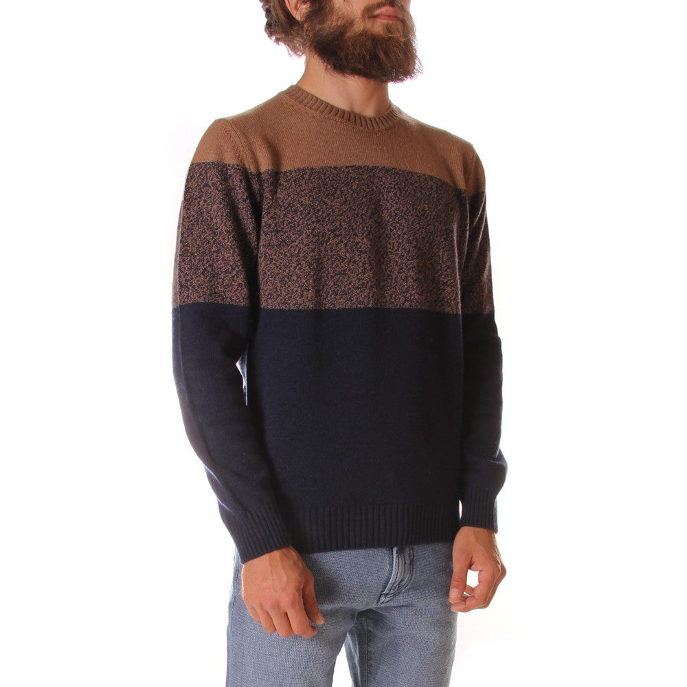 JURTA mens brown dark blue kashmir Sweater