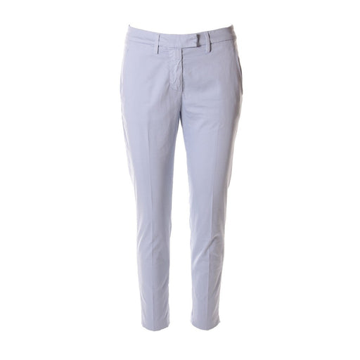 DONDUP womens light blue stretch cotton Trousers