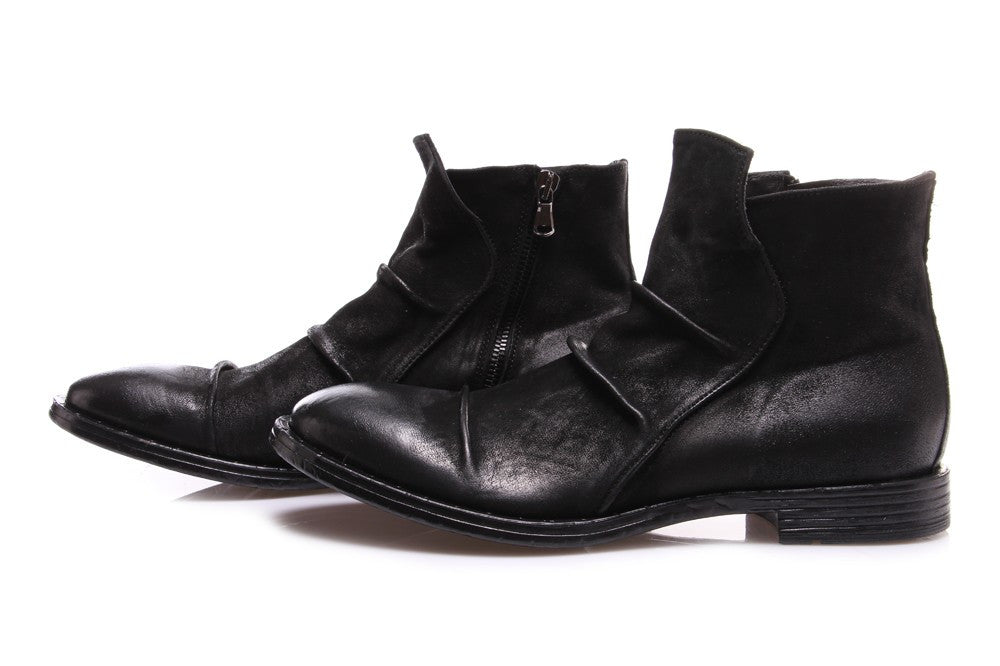 PAWELK'S Mens black leather Ankle boots