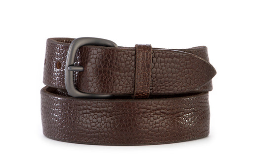 ORCIANI mens brown tumbled leather Belt