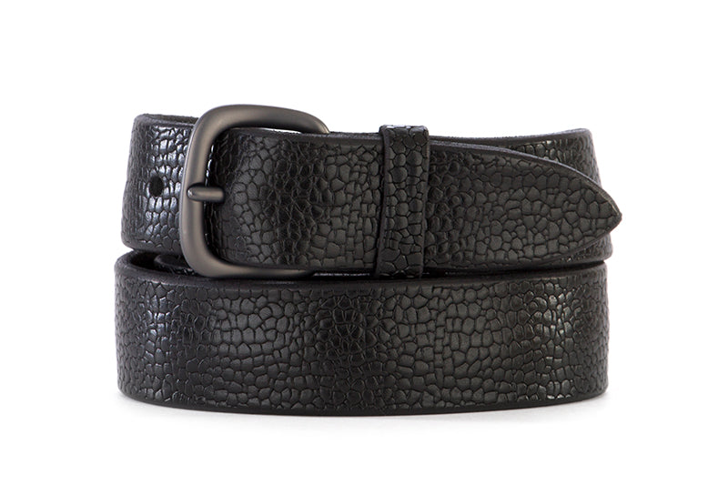 ORCIANI mens black leather Belt