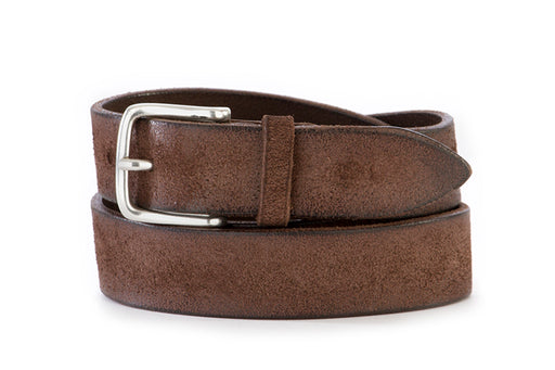 ORCIANI mens mud brown leather Belt