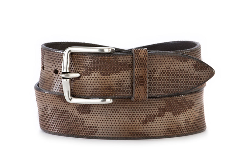 ORCIANI mens grey brown Belts camouflage