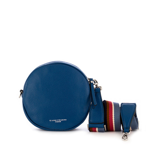 gianni chiarini tamburello crossbody bag blue marine