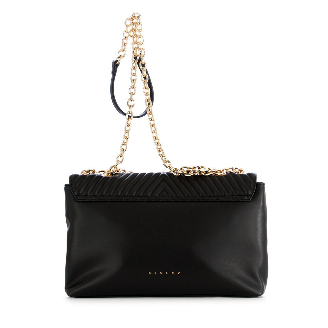 sisley womens shoulder bag black